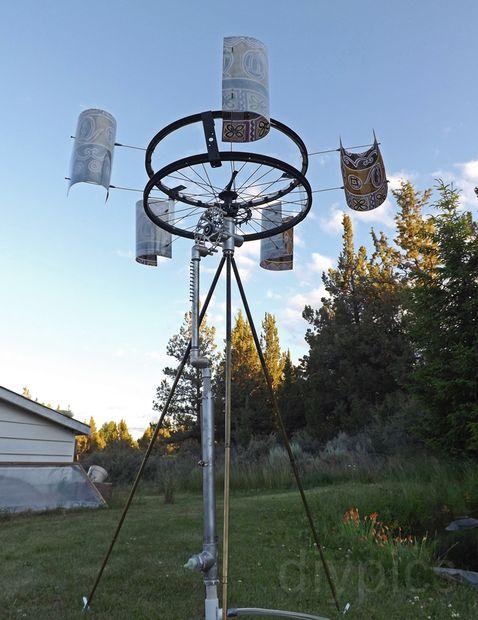 国外强人自制风力水泵